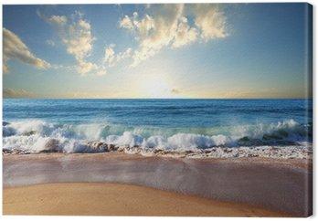 Canvas Zee zonsondergang
