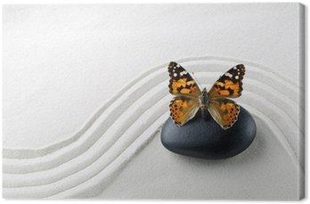 Canvas Zen stenen met vlinder