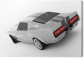 Canvas Zilverachtige Klassieke sportwagen