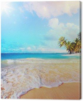 Canvas Zomer Kunst vakantie oceaan strand