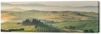 Canvas Zomer landschap van Toscane, Italië
