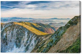 Canvas Zonsondergang in de bergen