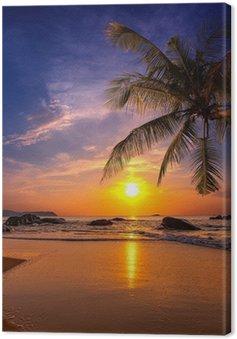 Canvas Zonsondergang over de zee. Provincie Khao Lak in Thailand