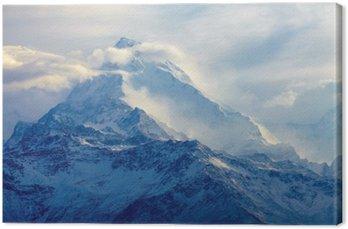 Canvas Zonsopgang in de bergen