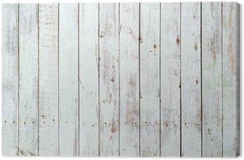 Canvas Zwarte en witte achtergrond van houten plank