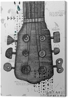 Canvastavla Гриф от гитары