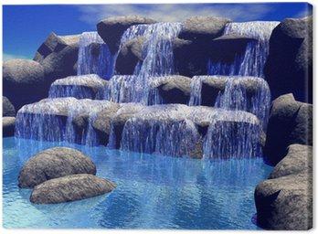 Canvastavla 3d vattenfall