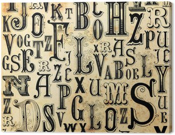 Canvastavla ABC vintage bakgrund
