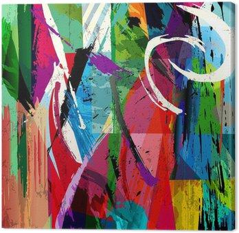 Canvastavla Abstrakt bakgrund sammansättning, med penseldrag, stänk en