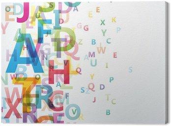 Canvastavla Abstrakt Färg alfabetet på vit bakgrund # Vector