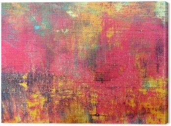 Canvastavla Abstrakt färgrik handen målade konsistens bakgrund