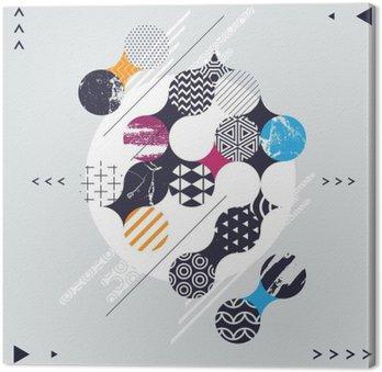 Canvastavla Abstrakt geometrisk komposition med dekorativa cirklar