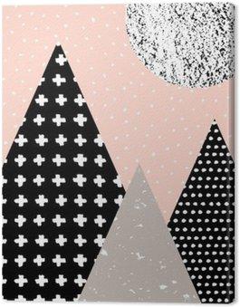 Canvastavla Abstrakt geometrisk Liggande