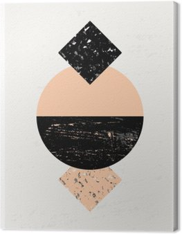 Canvastavla Abstrakt geometriskt komposition