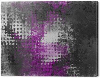 Canvastavla Abstrakt grunge bakgrund med grått, vitt och lila