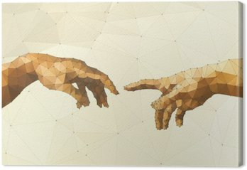 Canvastavla Abstrakt Guds hand vektor