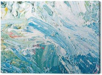 Canvastavla Abstrakt konstverk bakgrund målning