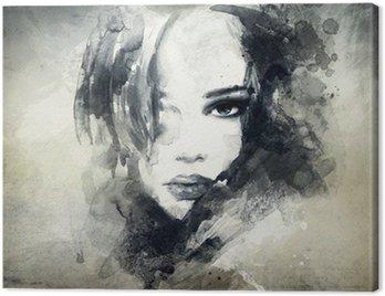 Canvastavla Abstrakt kvinna stående
