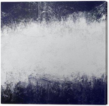Canvastavla Abstrakt målade bakgrund i mörkblått och vitt med tomt utrymme för text