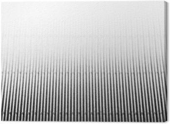 Canvastavla Abstrakt minimalistisk vit randig bakgrund med vertikala linjer och rubrik. Kopiera utrymme. Texturen.