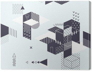 Canvastavla Abstrakt modern geometrisk bakgrund