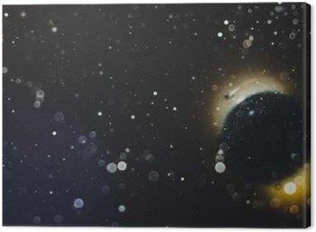 Canvastavla Abstrakt rumslig bakgrund
