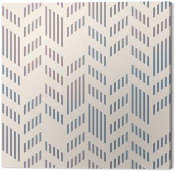 Canvastavla Abstrakt Seamless geometriska Vector Chevron mönster. mesh backgro