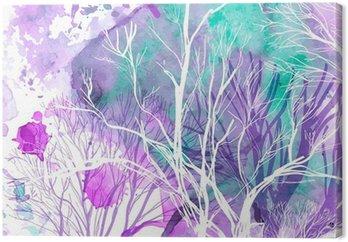 Canvastavla Abstrakt silhuett av träd