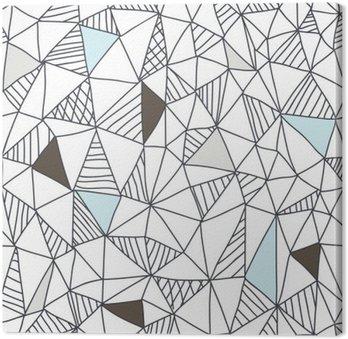Canvastavla Abstrakt sömlösa klotter mönster
