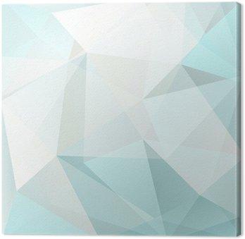 Canvastavla Abstrakt triangel bakgrund, vektor