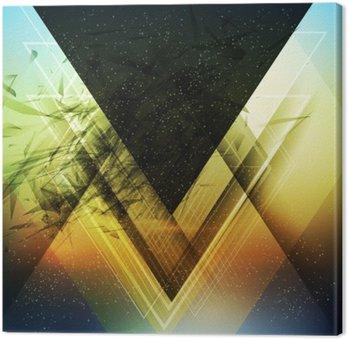 Canvastavla Abstrakt triangel framtida vektor bakgrund