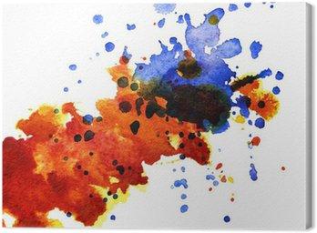 Canvastavla Abstrakt vattenfärg blot