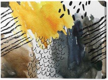 Canvastavla Abstrakt vattenfärg seamless i höstfärger.