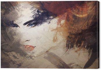 Canvastavla Abstrakt vattenfärg .woman porträtt