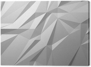 Canvastavla Abstrakt vit bakgrund låg poly