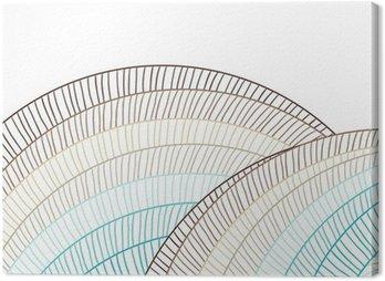 Canvastavla Abstrakta cirklar bakgrund. Vektor element för design.