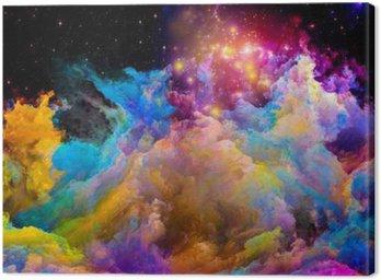 Canvastavla Acceleration av målad World