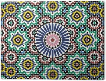 Canvastavla Akram Marocko Mönster Två
