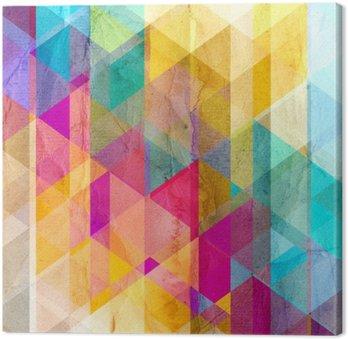 Canvastavla Akvarell geometrisk bakgrund med trianglar