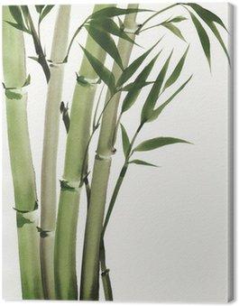 Canvastavla Akvarell målning av bambu