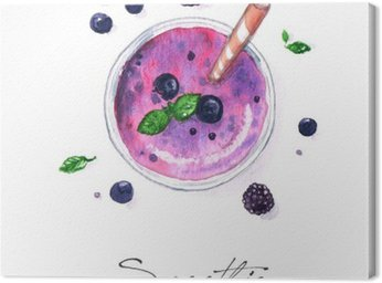 Canvastavla Akvarell Mat Målning - Smoothie