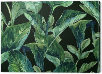 Canvastavla Akvarell Seamless Tropiska