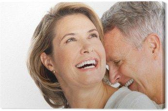 Canvastavla Äldre par
