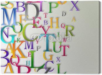Canvastavla Alfabetet abstrakt bakgrund