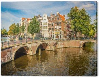 Canvastavla Amsterdam stadsbild