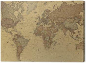 Canvastavla Ancient World Map