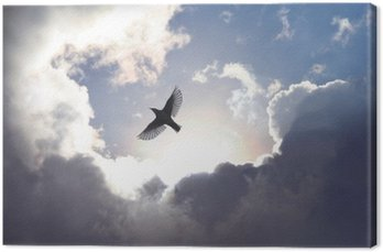 Canvastavla Ängelfågel i himlen