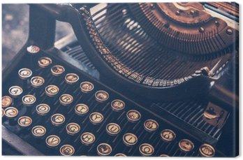 Canvastavla Antik skrivmaskin