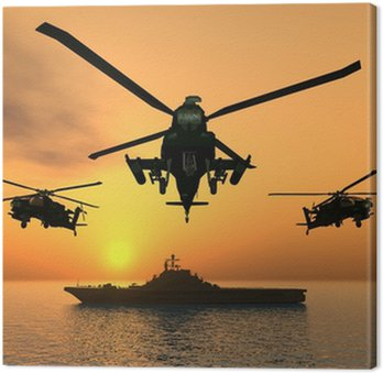 Canvastavla Apache Helikopter