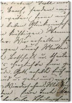 Canvastavla Årgång handskrift med en text i odefinierad språk